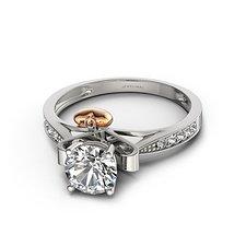 18K白金认证钻石女戒