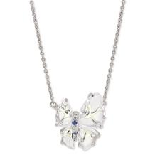 Papillon系列-G18K白金白水晶項鏈