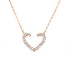 G18K玫瑰金钻石套链