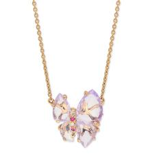 Papillon系列-G18K玫瑰金milky紫晶项链